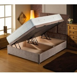 4'6ft Silk 1000 Side Lift Ottoman Bed Set