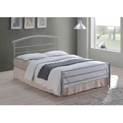 Burgandy Metal Bed Frame