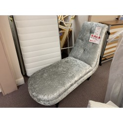 Crushed Velvet Chaise (Ex-Display)